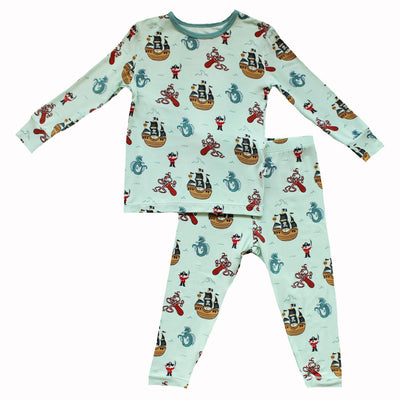 Seafoam Pirates & Sea Dragons Long Sleeve Pajama Set (0-24m)