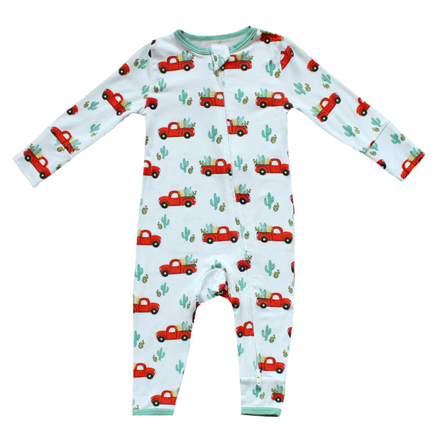 Red Trucks Coverall (2T-3T)