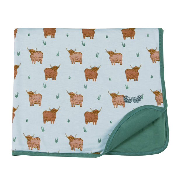 Highland Cattle Toddler Blanket