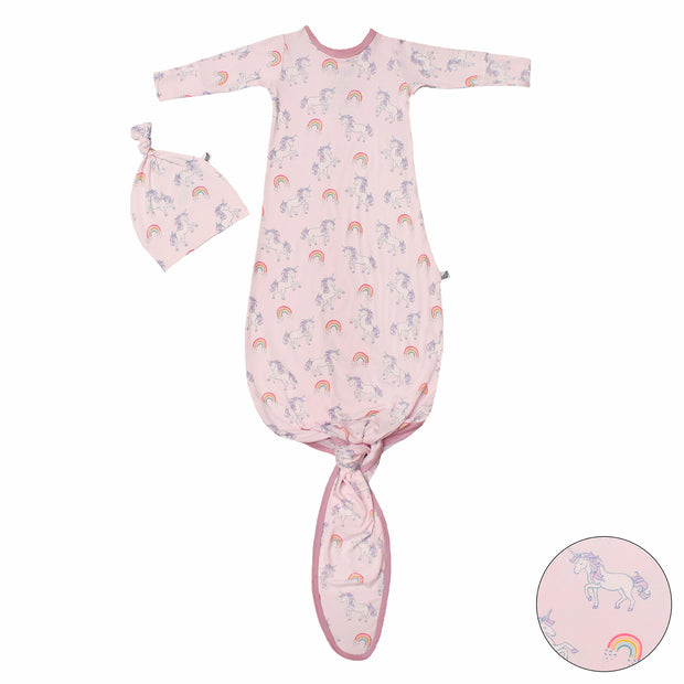 Heavenly Pink Unicorns & Rainbows Newborn Set (0-3M)