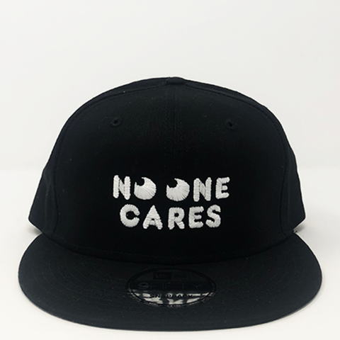 "No One Cares Snapback Hat ""Black"""