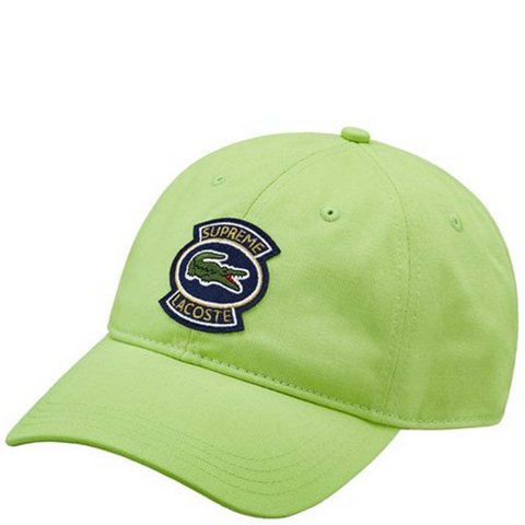 "Supreme x Lacoste Twill 6-Panel Hat ""Light Green"""