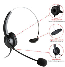 Load image into Gallery viewer, AGPtek Handsfree - Call Center Dialpad Headset