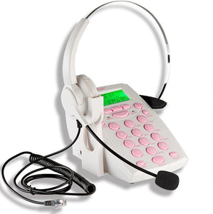 AGPtek Handsfree - Call Center Dialpad Headset - Black|Rose Red|Pink|White