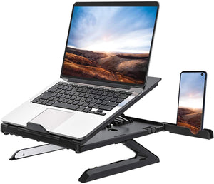 Homder Ergonomic Multi-Angle Adjustable Laptop Stand with Heat-Vent - Compatible up to 15 inches
