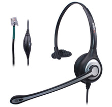 Load image into Gallery viewer, Wantek Corded Telephone Headset (Mono) w/Noise Canceling Mic - Work At-Home Equipment Solutions (WAHES)
