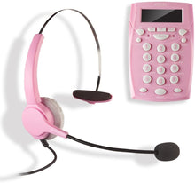 Load image into Gallery viewer, AGPtek Handsfree - Call Center Dialpad Headset - Black|Rose Red|Pink|White