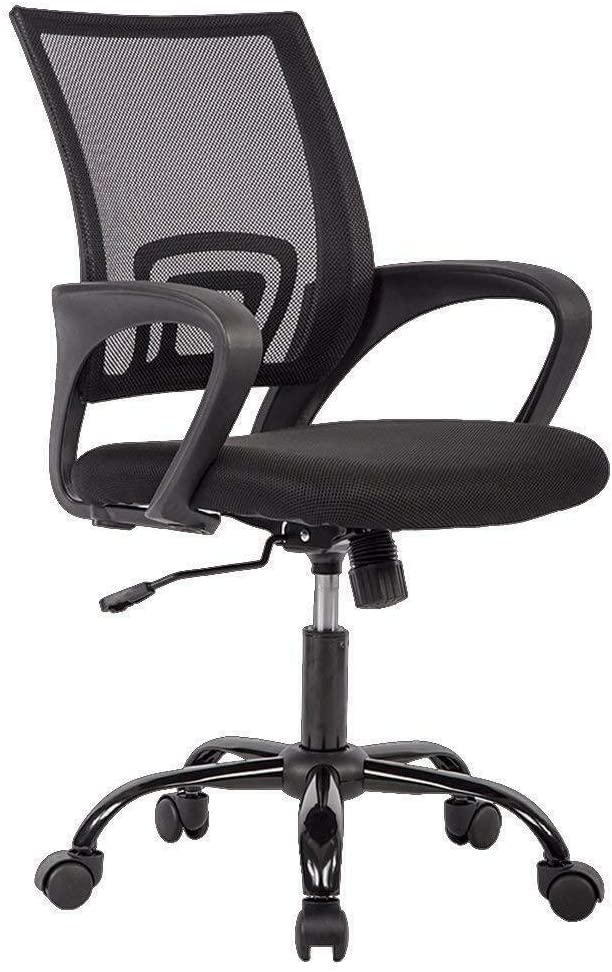 Ergonomic Mesh Computer Desk Chair| Lumbar Support and Adjustable Stool Rolling Swivel