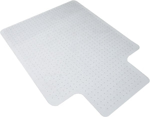 "OFM Essentials Collection 36"" x 48"" Transparent Chair Mat with Lip for Hard Surface"