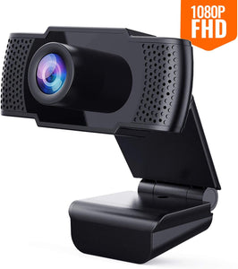 Firsting Full 1080P USB Webcam with Microphone| Plug and Play for Laptop/Desktop