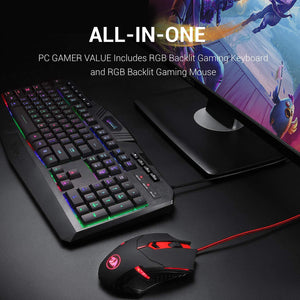 Redragon S101 Wired RGB Backlit Gaming Keyboard and Mouse Combo