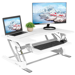 "VIVO Black Height Adjustable 36"" Stand up Desk Converter - Work At-Home Equipment Solutions (WAHES)"