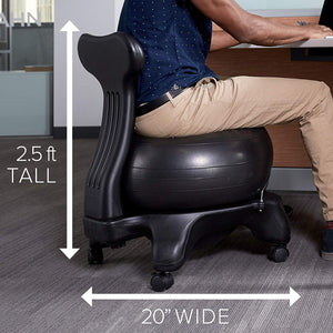 Gaiam Classic Balance Ball Premium Ergonomic Chair - Work At-Home Equipment Solutions (WAHES)