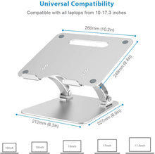 Load image into Gallery viewer, Nulaxy Laptop Stand, Ergonomic Adjustable Laptop Stand Compatible with All Laptops 10-17.3""