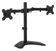 "Load image into Gallery viewer, Dual Monitor Stand Freestanding Desk Mount | Holds 19"" - 24"" Screen - Work At-Home Equipment Solutions (WAHES)"