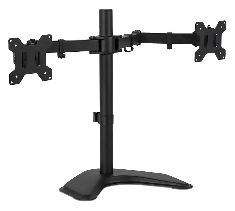 Dual Monitor Stand Freestanding Desk Mount | Holds 19
