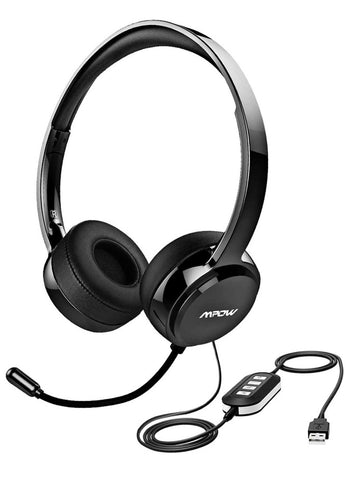 Mpow - Noise Reduction Headset w/control keys - Work At-Home Equipment Solutions (WAHES)