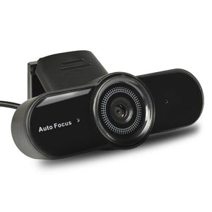 Webcam w/Built-in Microphone - 8MP USB 2.0 (Black)