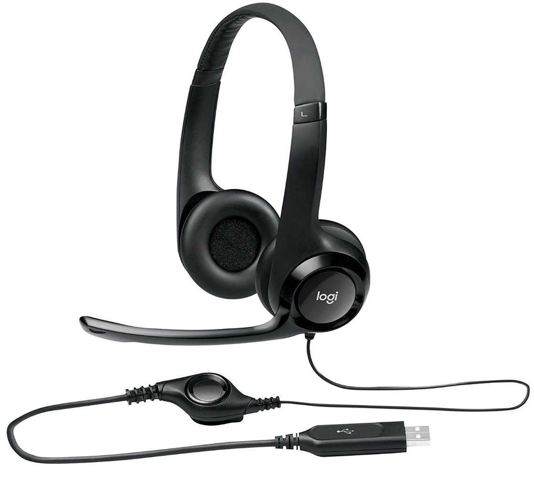 Logitech H390 - Noise Cancelling USB Headset - Work At-Home Equipment Solutions (WAHES)
