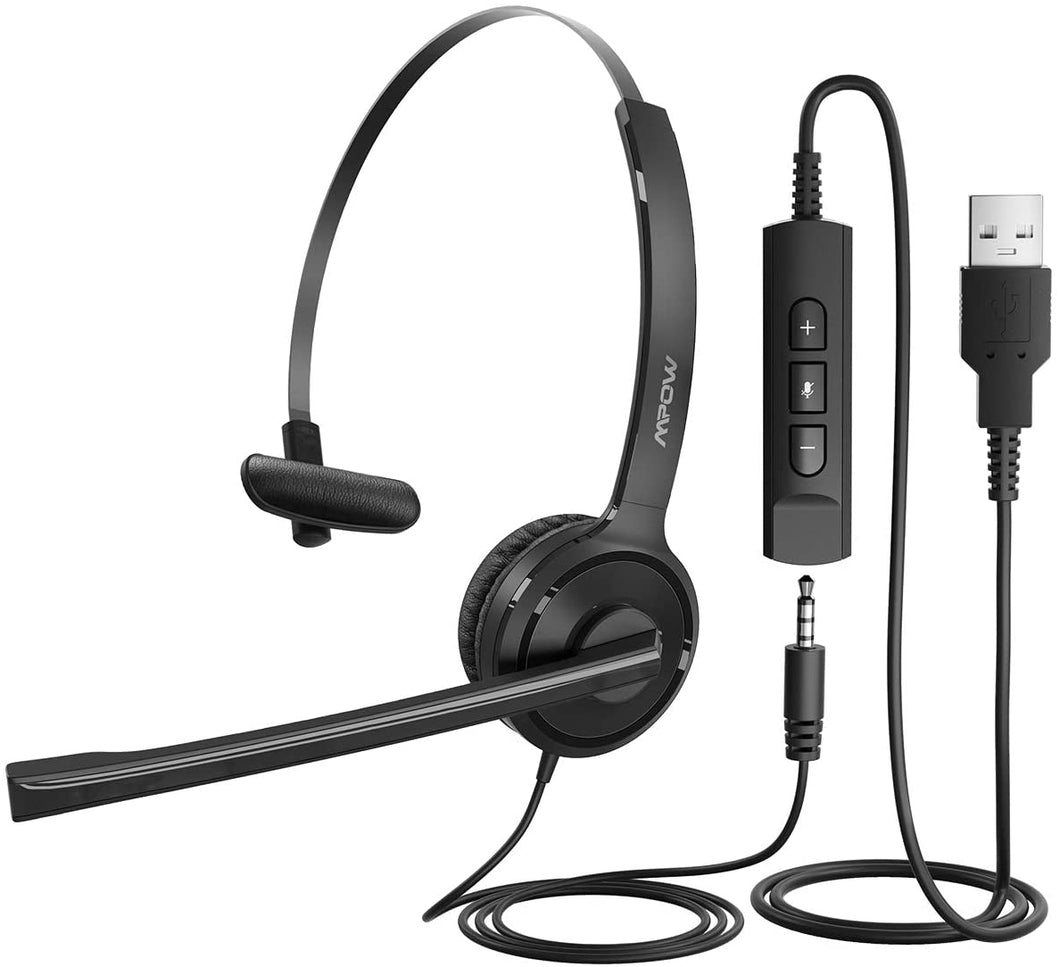 Mpow (Mono) USB Call Center Headset with Microphone
