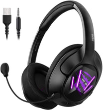 Load image into Gallery viewer, EKSA Ultralight USB Gaming Headset - 7.1 Surround Sound Headphones with Breathable Earmuffs
