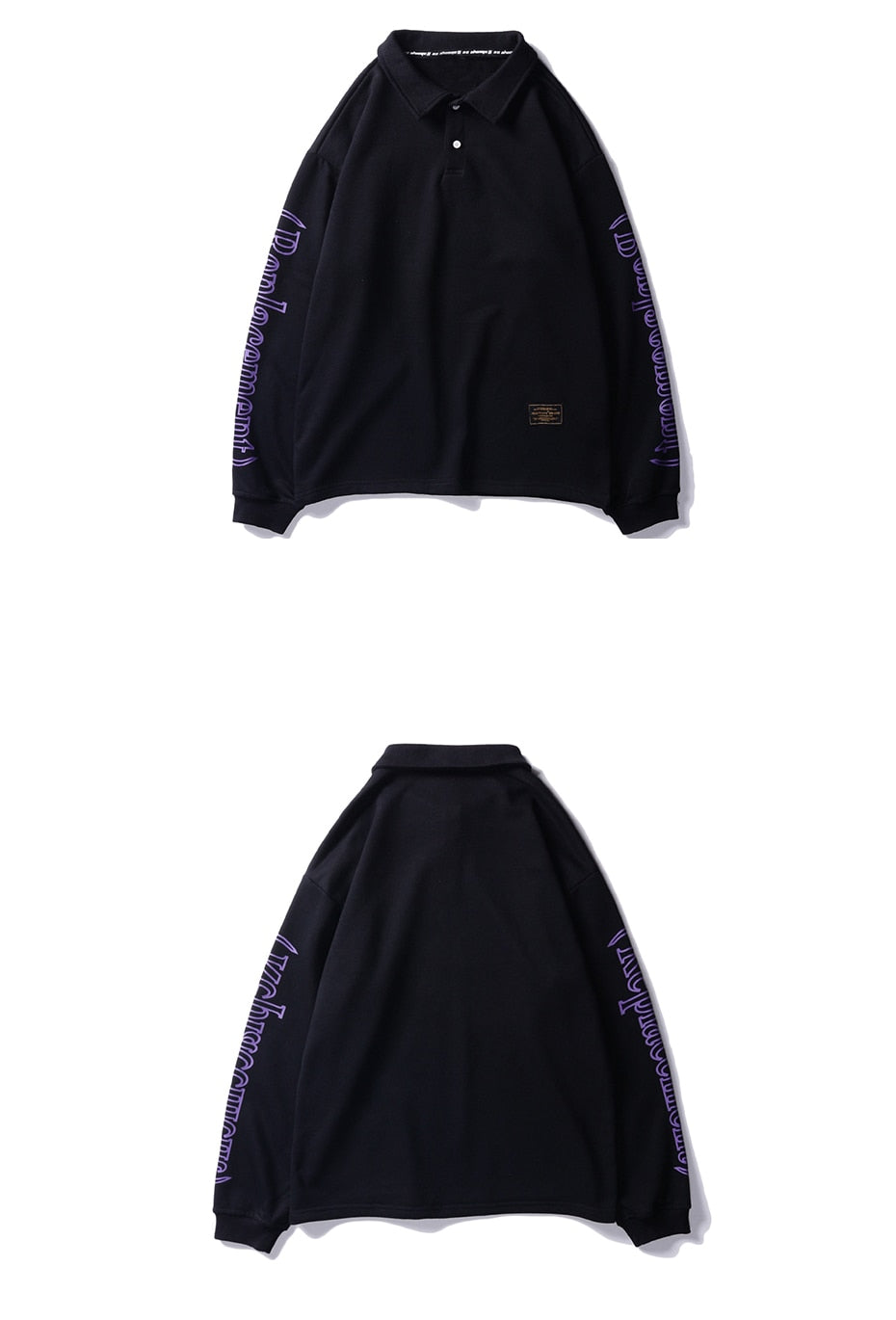 Replacement Long Sleeve Polo (Black)
