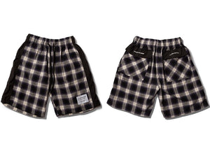 Casual plaid shorts (black)