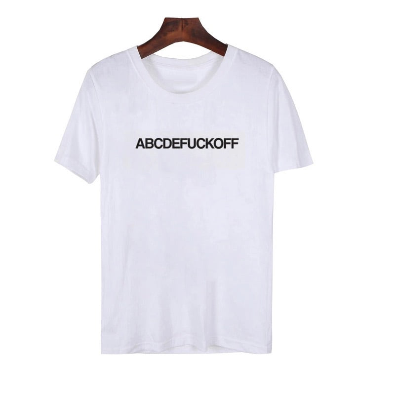 Female Alphabet T-shirt