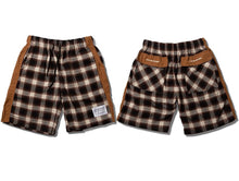 Load image into Gallery viewer, Casual plaid shorts (brown)