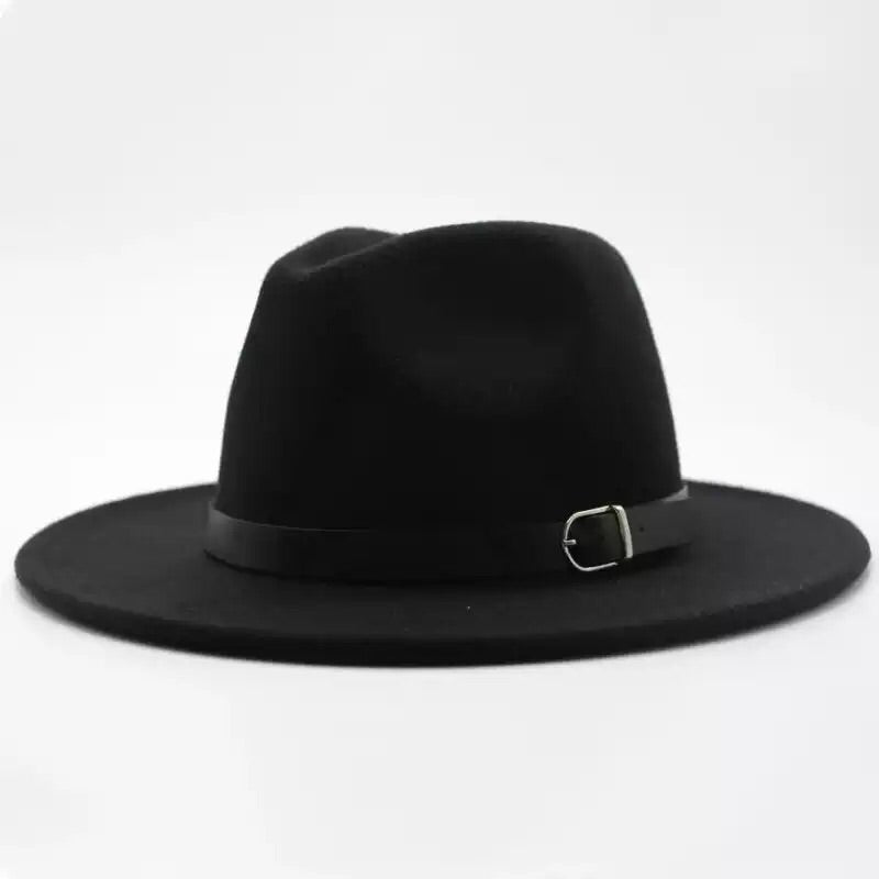 Men's all black fedora