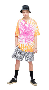 Orange and Pink tie dye shirt