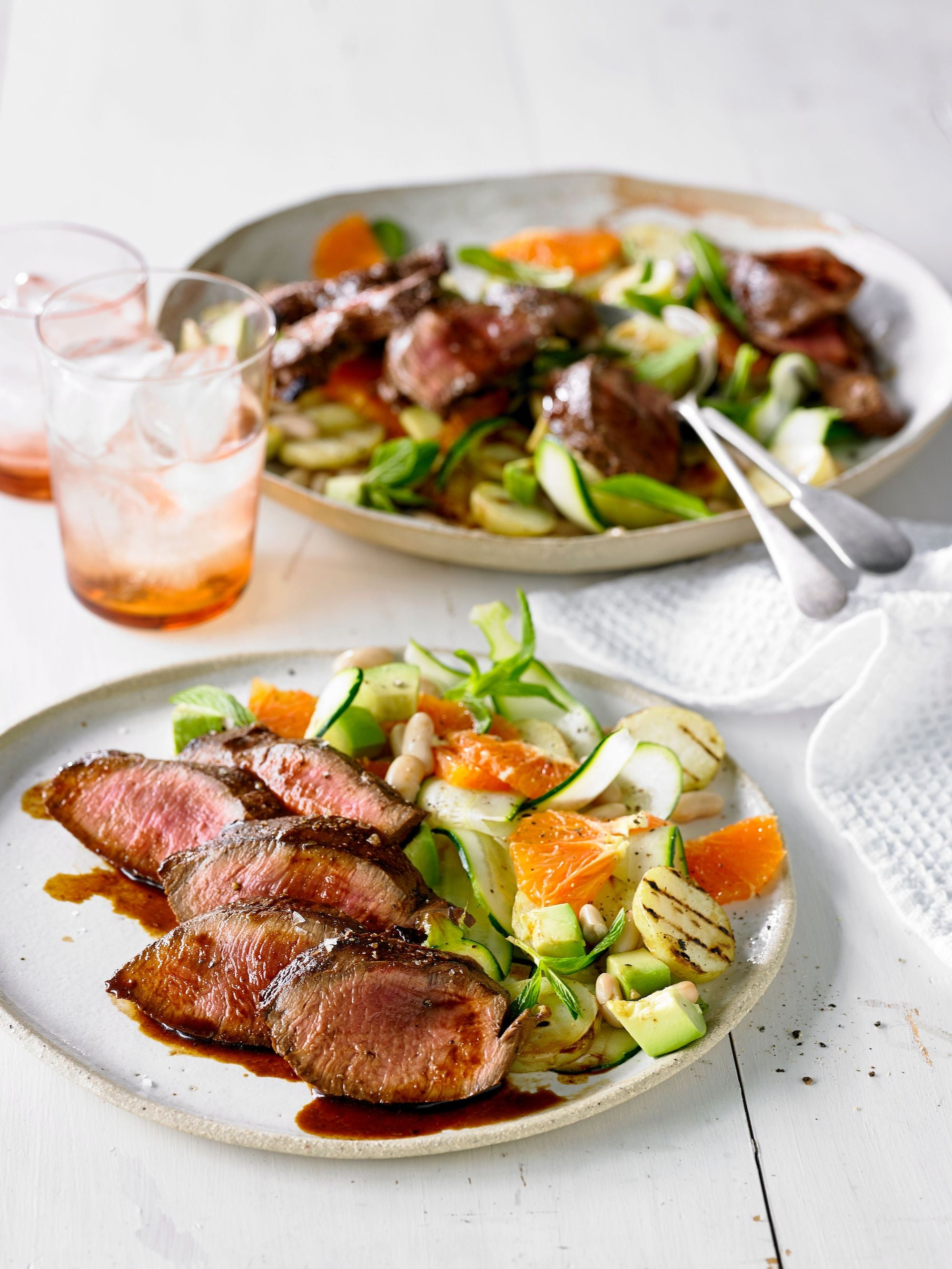 PERUVIAN-STYLE FLANK STEAK WITH SUMMER SALAD