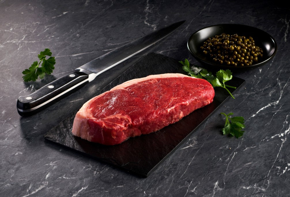 100% Grass-Fed Organic N.Y. Strip Steaks