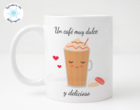 Sweet Spanish 11 oz Ceramic Coffee Mug with Iced Coffee