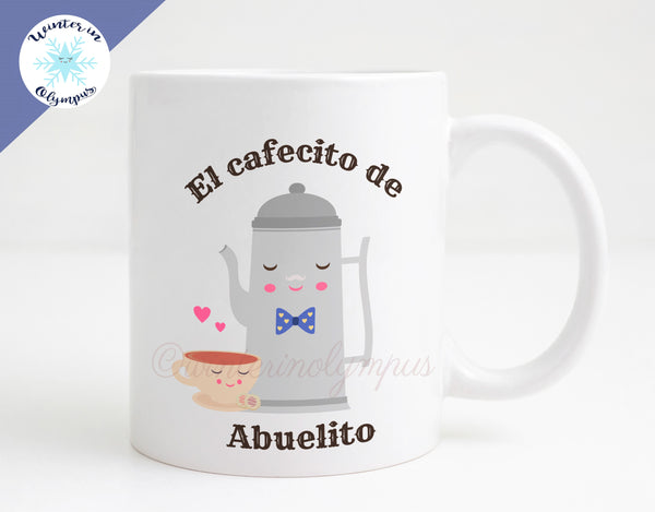 Spanish Language 11 oz Ceramic Abuelito Coffee Mug