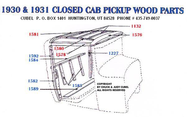 New body wood for your 30 or 31 Ford Closed Cab Pickup