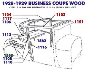 New top wood for your 28 or 29 Ford Business Coupe