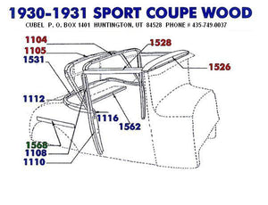 New body wood for your 30 or 31 Ford Sport Coupe