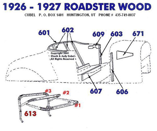New body wood for your 30 or 31 Ford Roadster