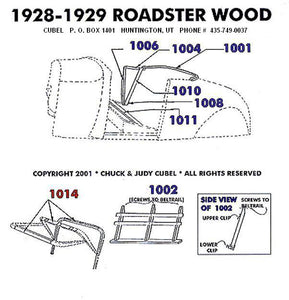 New body wood for your 28 or 29 Ford Roadster