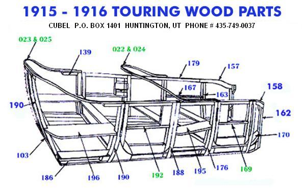 New body wood for your 15-16 Ford Model T Touring