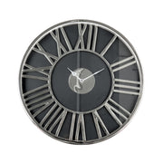 Clotilde | Clock (Black & Silver)