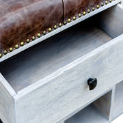 Felman | Bench Shoe Cabinet (Buffalo Leather)