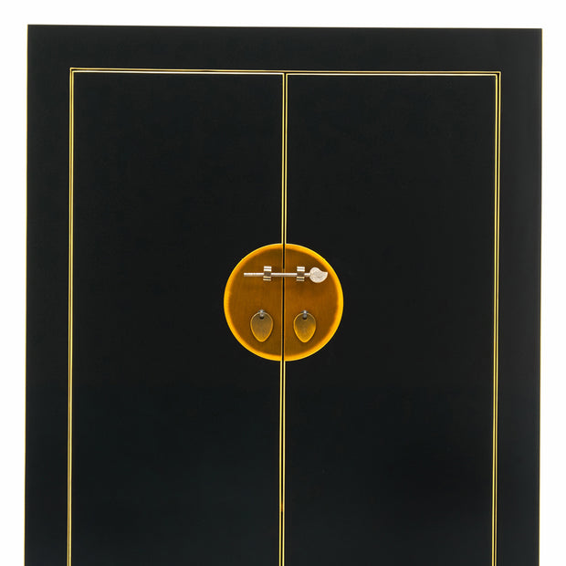 Tao | Black & Gilt Cabinet (Medium)