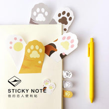 Load image into Gallery viewer, Cute Meow Cat Paw Memo Notepad Notebook Memo Pad Self-Adhesive Sticky Notes Bookmark Promotional Gift Stationery