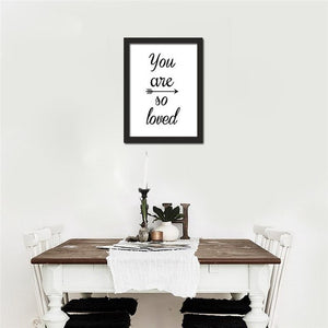 HAOCHU Nordic Minimalist Typography Print Motivational Life Love Quotes Poster Canvas Painting Wall Pictures Home Decor No Frame