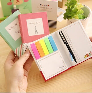 Novelty Hard Cover Mini Notebook Episode Diary Book with Ballpoint Pen Promotional Gift Stationery