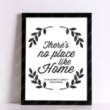 Load image into Gallery viewer, Home Wall Posters decorative wall painting Canvas Art Print There is no place like HOME - Typography Motivation Print