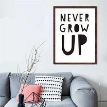 Load image into Gallery viewer, Typographic Print Poster With Quote - Never Grow Up