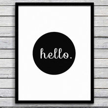 Load image into Gallery viewer, Haochu Minimalist Black White Motivational Typography screen printed English Letters Canvas Painting Art Wall Living Room decor